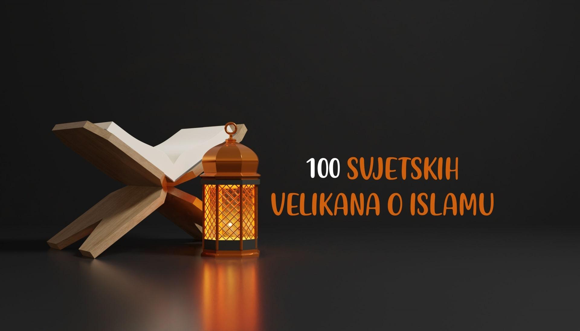 100 svjetskih velikana o islamu – Edvard Monte Poučne priče El-Kelimeh Islamske knjige Islamska literatura